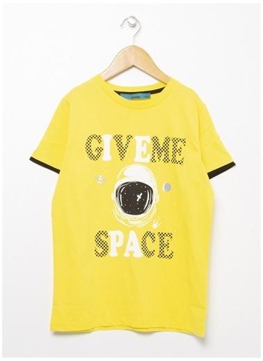 Funky Rocks Funky Rocks Bisiklet Yaka Sarı T-Shirt Sarı